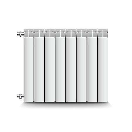 conformity: Heating radiator isolated on white photo-realistic vector illustration Illustration