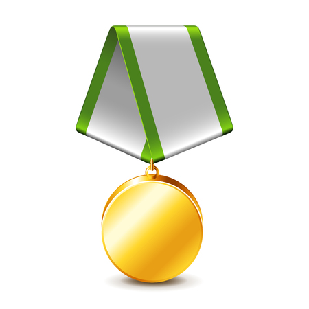 photorealistic: Army medal isolated on white photo-realistic vector illustration Illustration