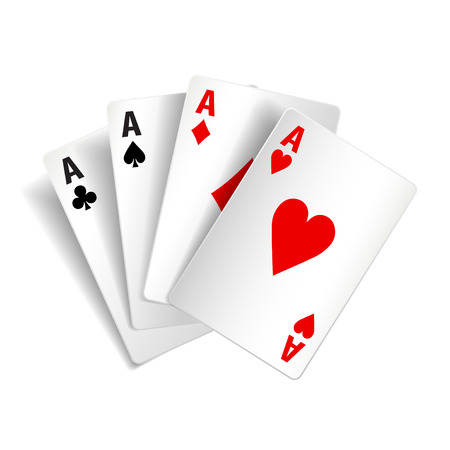 photorealistic: Playing cards isolated on white photo-realistic vector illustration