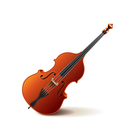 contrabass: Contrabass isolated on white photo-realistic vector illustration