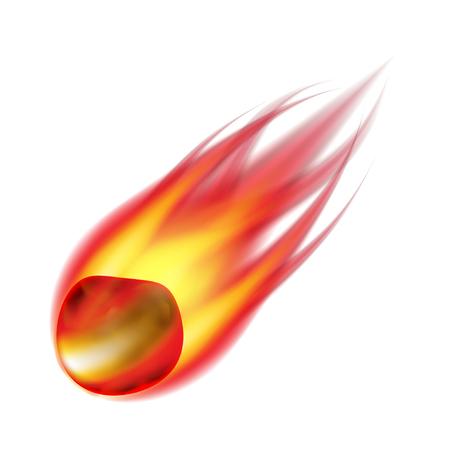 photorealistic: Meteorite isolated on white photo-realistic vector illustration