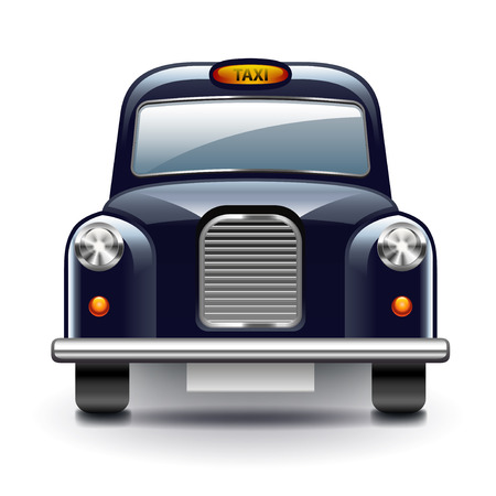 capita: London taxi isolated on white photo-realistic vector illustration