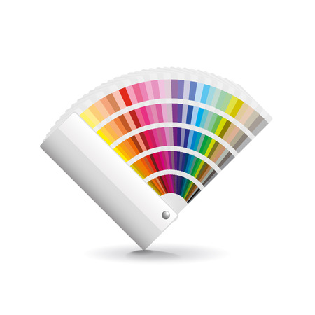 color swatch book: Fan color isolated on white photo-realistic vector illustration Illustration