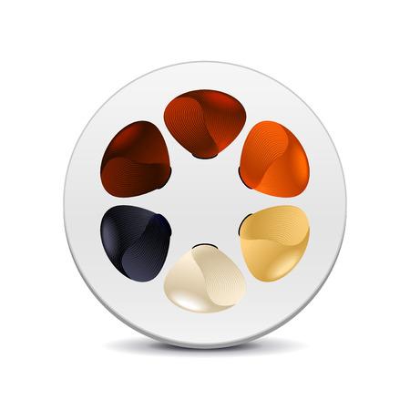 tinte cabello: los colores de tinte de pelo aislado en blanco ilustración vectorial foto-realista