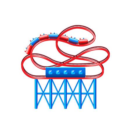 loop: montaña rusa aislado en blanco ilustración vectorial
