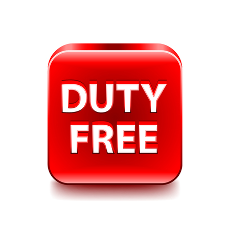 duty: Duty free icon isolated on white vector illustration