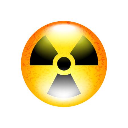 Radioactive symbol isolated on white illustration