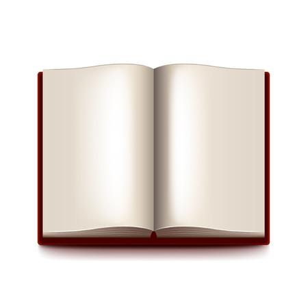 blatt: Geöffnet Buch auf weißem fotorealistische Darstellung isoliert Illustration