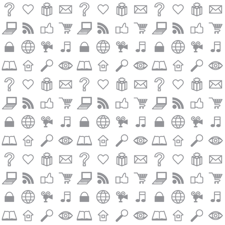 Flat social media icons seamless vector background