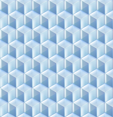 blue glass: Seamless from blue glass cubes vector background