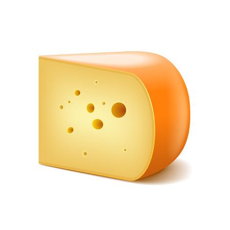 gouda: Gouda cheese isolated on white