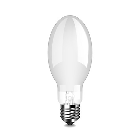 Mercury light bulb isolated photo-realistic vector illustration
