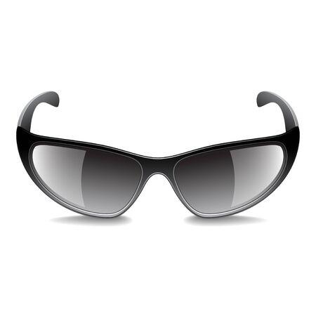Sports sunglasses isolated on white photo-realistic vector illustration Illustration