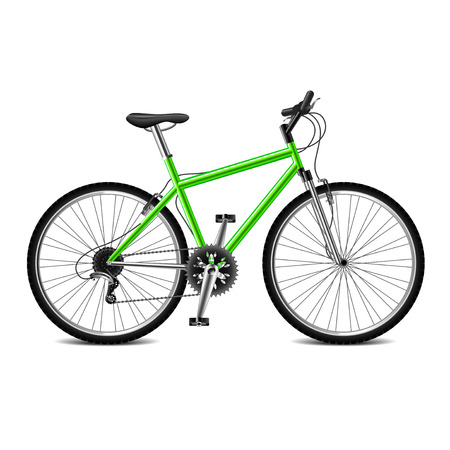 geen: Geen bicycle isolated on white photo-realistic vector illustration Illustration