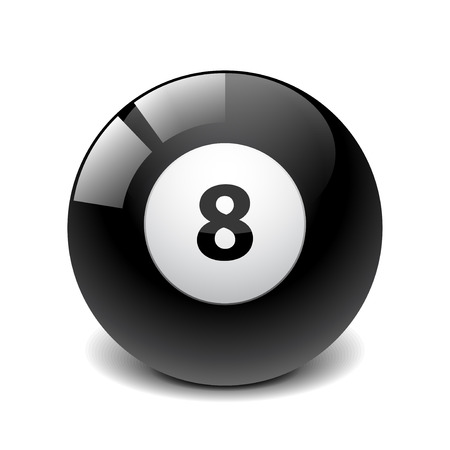 numbers clipart: Billiard ball vector illustration