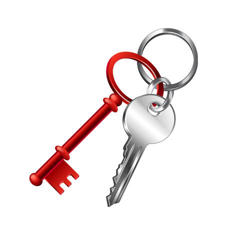 Keychain vector illustration Illustration