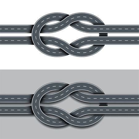 directions icon: Tangled route isolated photo realistic vector illustration Illustration