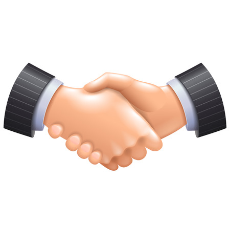3d handshake icon