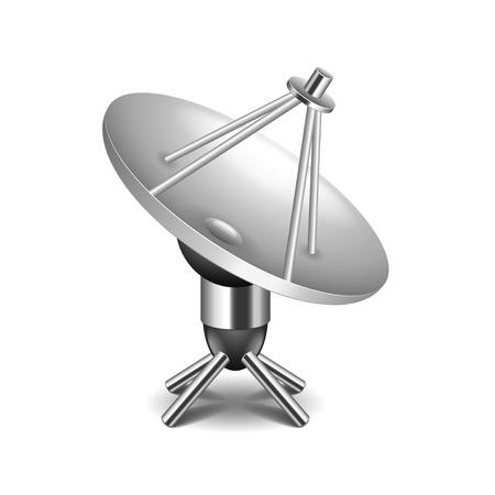 space station: Satellite dish isolated on white photo-realistic vector illustration Illustration