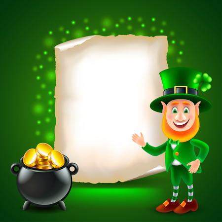 Saint Patrick day green photo realistic vector background