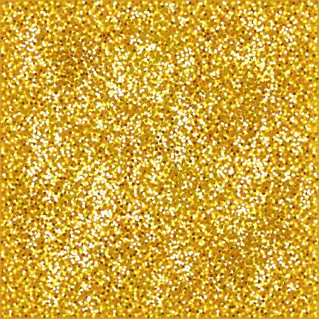 Shiny gold glitter background photo realistic vector illustration