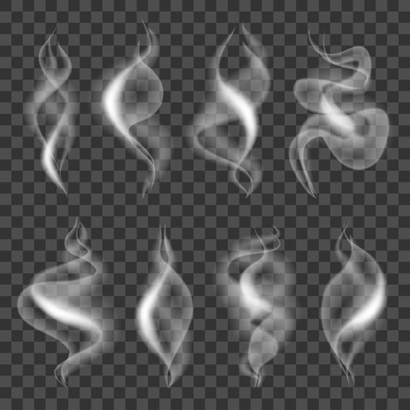 Cigarette smokes icons detailed photo realistic vector set
