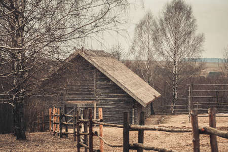 backcountry: Belarusian village in the past, in March 2016 Editorial