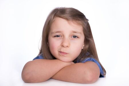Girl with arms crossed Stock Photo