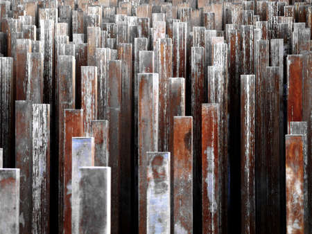 Red and rusty iron bars Stock Photo