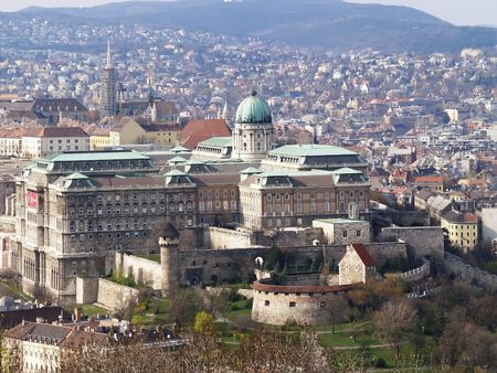 Castle of Budapest at daytime. Stock Photo