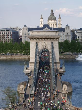 Bicycle demonstration at Budapest.(Critical Mass)