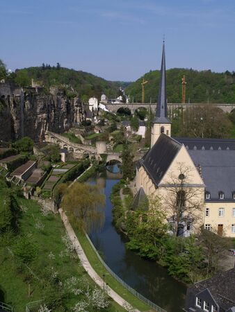 View of Luxembourg city. 免版税图像 - 3056941