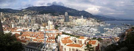 Monte Carlo harbour panorama photo