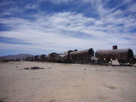 Abandoned locomotive photo