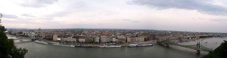 Panoramic view of Budapest city Stock Photo - 6511955