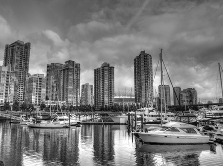 Harbour of Vancouver city, British Columbia