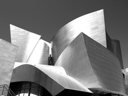 LOS ANGELES - SEPTEMBER 12: Walt Disney Concert Hall in Los Angeles, CA on September 12, 2011. The Frank Gehry-designed building opened on October 24, 2003.
