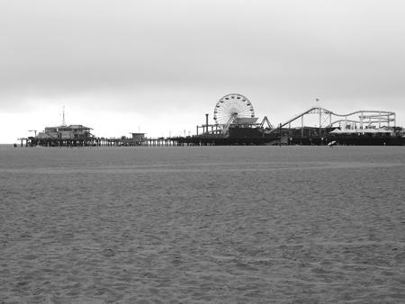 LOS ANGELES - SEPTEMBER 17  Santa Monica Pier in Los Angeles, CA on September 17, 2011  The long, narrow Municipal Pier opened September 9, 1909