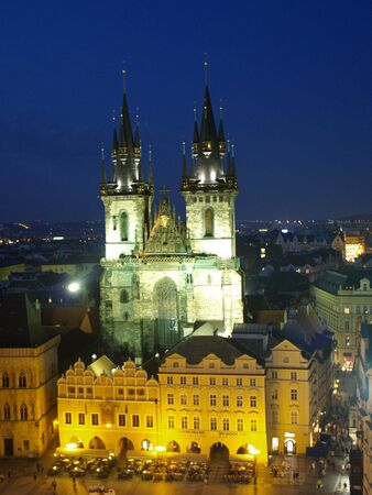 tyn: Our lady before tyn cathedral of Prague Editorial