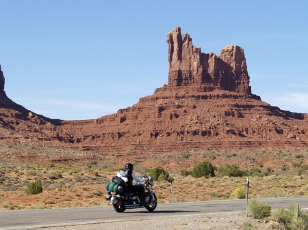 MONUMENT VALLEY, USA - SEPTEMBER 22  Road of Monument Valeey on  Sepetmeber 22, 2011  Monument Valley is a region of the Colorado Plateau characterized by a cluster of vast sandstone buttes