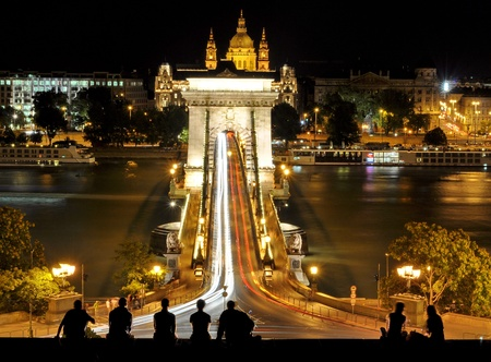Chain Bridge at Budapest, Hungary photo
