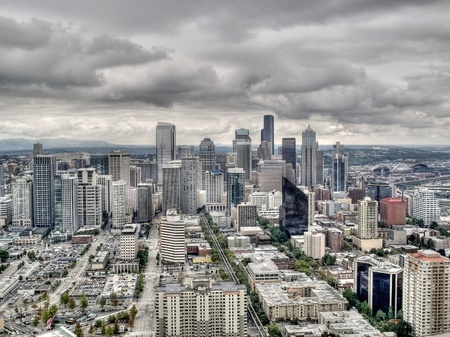 Aerial view of Seattle photo