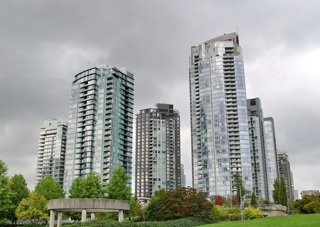 Towers of Vancouver city, British Columbia, Canada