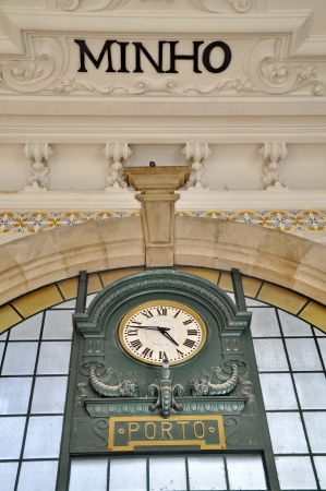Great clock of Porto railway station