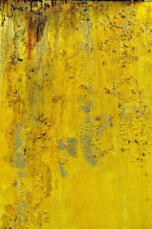 Grunge yellow wall photo