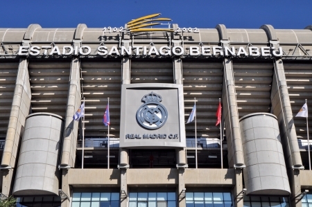 MADRID, SPAIN-AUGUST 25 Santiago Bernabeu Stadium of Real Madrid on August 25, 2012 in Madrid, Spain  Real Madrid C F  was established in 1902  It is the best club of XX century according to FIFA
