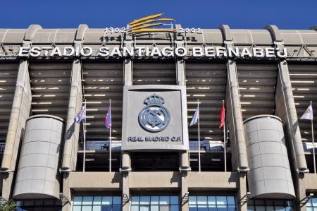 MADRID, SPAIN-AUGUST 25 Santiago Bernabeu Stadium of Real Madrid on August 25, 2012 in Madrid, Spain  Real Madrid C F  was established in 1902  It is the best club of XX century according to FIFA