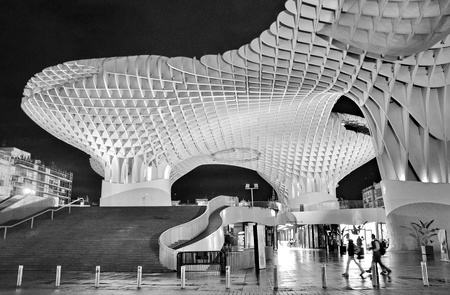 SEVILLA,SPAIN - Metropol Parasol in Plaza de la Encarnacion on September 27, 2012