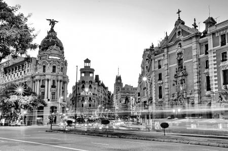 MADRID,SPAIN - SEPTEMBER 30  Gran Via street  免版税图像 - 17091974