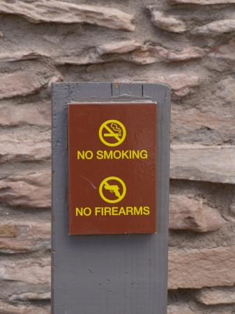 No smoking and no firearms sign Stock Photo - 17107912